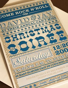 Custom Letterpress Holiday Invitations from Elum Holiday Invitations, Letterpress Wedding Invitations, Party Invitations, Invite, Invitation Ideas, Carnival Posters, Vintage Carnival, Do It Right, Fundraising