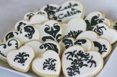 Love these wedding cookies! Rehearsal dinner? :)