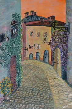 Old Town in Piedmont - paintingCopyright Felicia Tica All Rights ReservedFeatured in:Impressionists Of The Century FAA GroupBeauty FAA GroupItalian Landscape Fine Art GroupContest wins:Contest - Everybody WINS 4 - February 2014 Felicia, Old Town, Fine Art America, Artists, Wall Art, Painting, Old City, Painting Art, Paintings