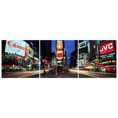 Times Square, New York City, USA Triptych