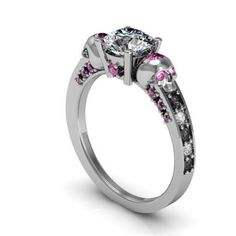 Hand Crafted Skull Engagement Ring by Takayas Custom Jewelry | CustomMade.com