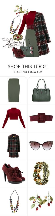 """""""Untitled #1229"""" by saritanwa ❤ liked on Polyvore featuring Gloria Coelho, Yves Saint Laurent, FAY, Jimmy Choo and NOVICA"""
