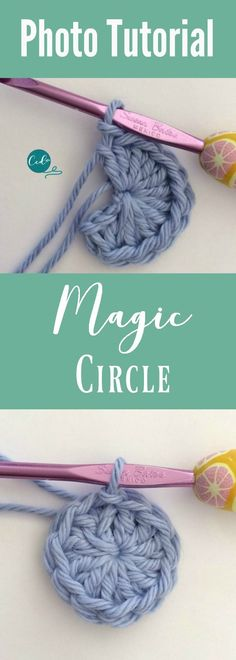 Crochet Magic Circle Photo Tutorial Learn to crochet the magic circle. So usefu… Crochet Magic Circle Photo Tutorial Learn to crochet the magic circle. So useful when crocheting in the round. Crochet Round, Easy Crochet, Free Crochet, Beginner Crochet Pattern Free, Crochet Circle Pattern, Knit Crochet, Crochet Stitches For Beginners, Crochet Basics, Crochet Motifs