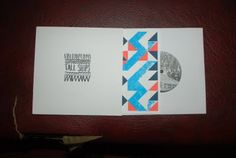 """Harriet Bridgwater's beautiful design and hand printing for the last TALL SHIPS 7"""" (very good band too by the way)"""