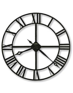 "Featuring a solid 32 inch wrought-iron design, this Howard Miller wall clock will add a distinctive element to any room. - 32"" diameter wrought-iron wall clock has stamped Roman numerals, finished in"