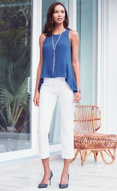 This WHBM romantic style introduces a little elegance to the everyday. To create an elevated casual look, simply pair with your favorite distressed jeans. | White House Black Maket