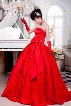 Unique Red Wedding Dresses
