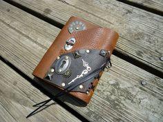 Steam-punk leather journal