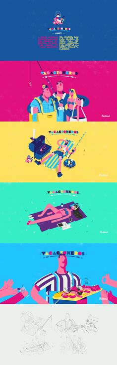 Vacacioneros on Behance