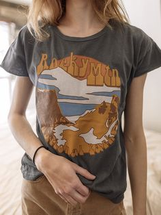 dream lake is the setting of this vintage rock inspired tee of rocky  mountain national park d8d8fc5bf2