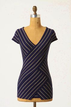 illusion of wrap; no sleeves; anthropologie.com