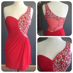 Pretty One Shoulder Homecoming Dresses,Burgundy Chiffon Homecoming Dresses,Short Party Dresses