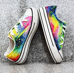 galaxy canvas shoes #sneakers