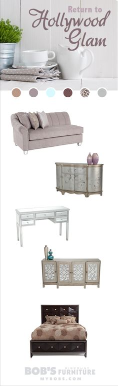 Shop my Return to Hollywood Glam #furniture collection, only at My Bob's!