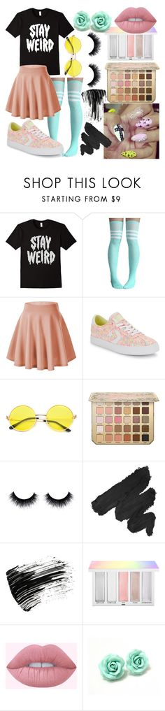 """""""Stay Weird"""" by dappershadow ❤ liked on Polyvore featuring Converse, NYX, Marc Jacobs, Sephora Collection and Lime Crime"""