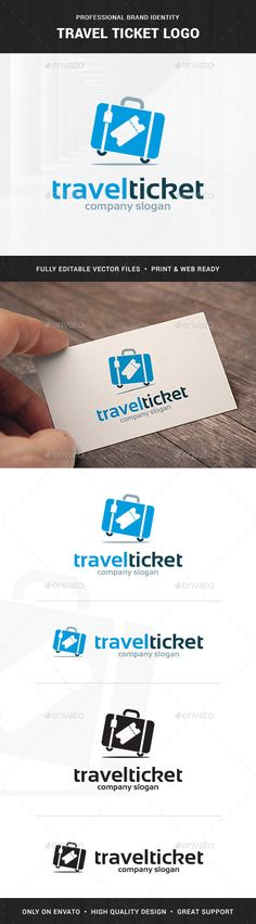 Travel Tickets Logo Template