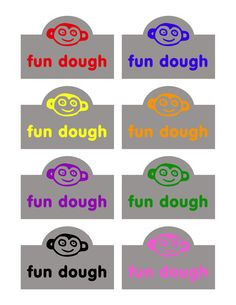 Fun Dough and Printable Labels + video tutorial from @craftmoore