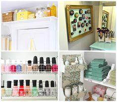 Maximizing Small Space Living | lizmarieblog.com Love the makeup frame-a-ma-bobber