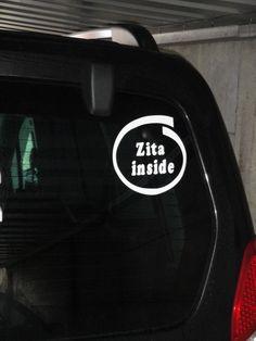 Klantenfoto baby aan boord sticker van www.auto-stickers.be
