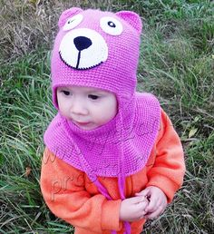 Шапочка с ушками и манишка - Вязание - просто!