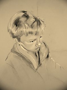 Charcoal and chalk on canvas charcoal, chalk, galleri, canvases