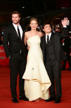 Liam Hemsworth, Jennifer Lawrence, and Josh Hutcherson- 'The Hunger Games: Catching Fire' Premieres in Rome