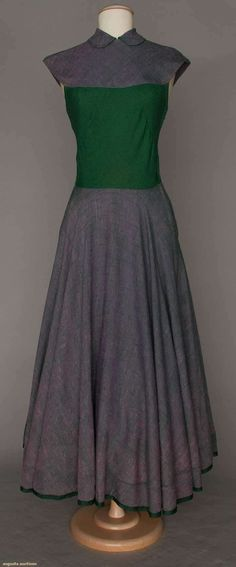 CLARE McCARDELL GREEN & BLUE DRESS, 1944