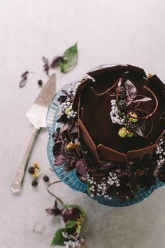 fall chocolate cake
