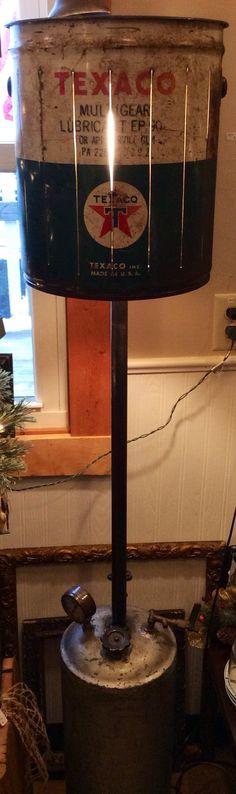 Texaco Industrial Floor Lamp