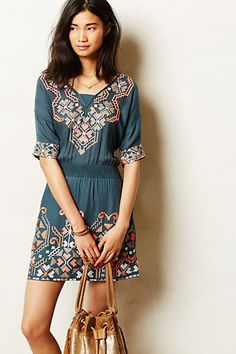 Rhona Stitched Peasant Dress