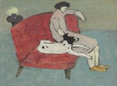 Seated Woman with Dog, Milton Avery