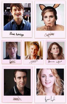 Daniel Radcliffe, Emma Watson, Rupert Grint, Tom Felton, Bonnie Wright, Matthew Lewis, Evanna Lynch.