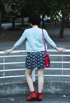 madame magenta  botines rojos red suzanna chloe boots vestido dress zara misako satchel bag bolso 3