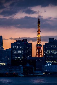 Tokyo tower sunset by Insolencre