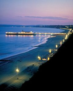 I've walked down this Bournemouth pier, lovely evening setting
