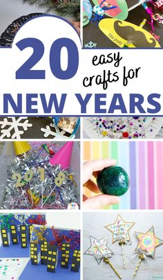 Easy new year's craft ideas to keep kids busy and have fun at the same time. #thejoysharing #newyearcrafts #newyearscraft #kidscrafts @thejoysharing