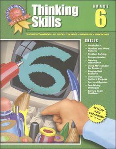 Spectrum language arts grade 1 695 to accompany the fll thinking skills grade 6 main photo cover fandeluxe Gallery
