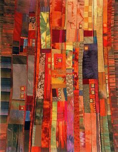 Rosalie Dace ~ wonderful mix of fabric, bright to shade .....
