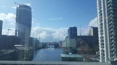 New office view from my desk. Im now a canary wharf wanker. #careerbuilder #canarywharf #wharfwanker #london #newoffice by murlan9