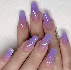 These fabulous nail art designs are super unique and glamorous, these will give you the trendy looks and give your nails a whole new edge to them. These designs below and next page include different shades like glitter pink, clear nails with etc. Summer Acrylic Nails, Best Acrylic Nails, Purple Acrylic Nails, Acrylic Nail Designs Glitter, Summer Nail Polish, Purple Nail Art, Nail Summer, Red Nail, Nail Nail