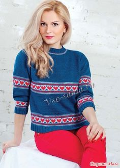 * Пуловер с жаккардовым узором