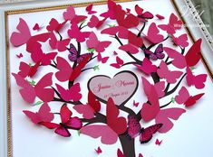 Wedding Guest Book Ideas  Wedding Tree 3D  Pink by WeddingUkraine