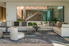 """""""The Cap Adriano experience"""" by Minotti Interior Exterior, Home Interior Design, Villas, Living Area, Living Spaces, Living Rooms, Level Homes, Outdoor Furniture Sets, Outdoor Decor"""