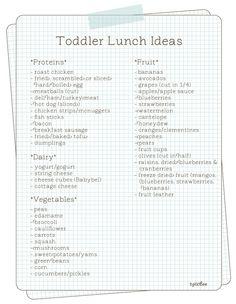 Toddler Lunch Ideas  http://www.hellobee.com/2011/11/14/toddler-lunch-ideas