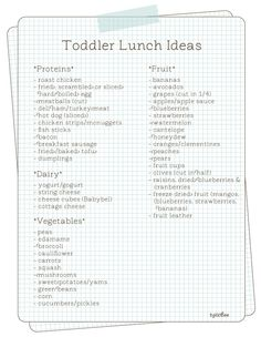 Toddler Lunch Ideas  http://www.hellobee.com/2011/11/14/toddler-lunch-ideas