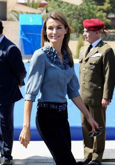 Queen Letizia of Spain Photos - Prince Felipe & Princess Letizia Visit Paterna - Zimbio