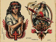 Spider Murphy's Tattoo Flash work 12