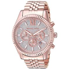 eb4943d47807 Michael Kors MK8580 - Lexington (Rose Gold) Watches ( 350) ❤ liked on