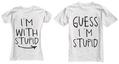 I'm With Stupid Couple T-Shirts on the redditgifts Marketplace