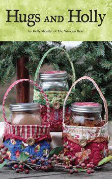 Hugs and Holly Mason Jar basket free pdf pattern...so cute for gifts